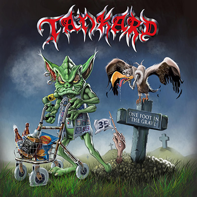 Tankard   one foot in the grave   artwork